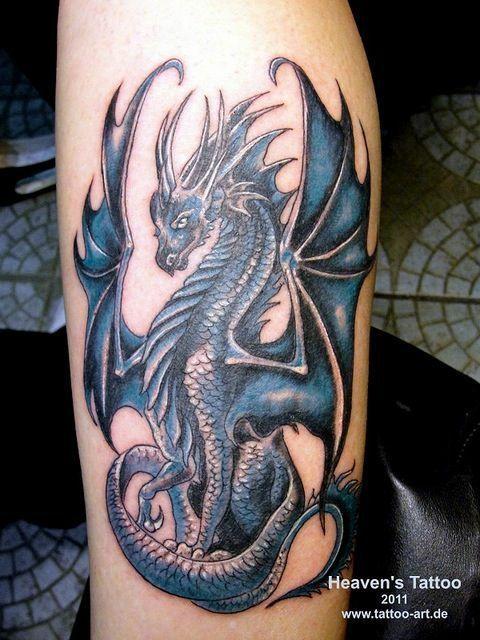 An the tattoo on her leg