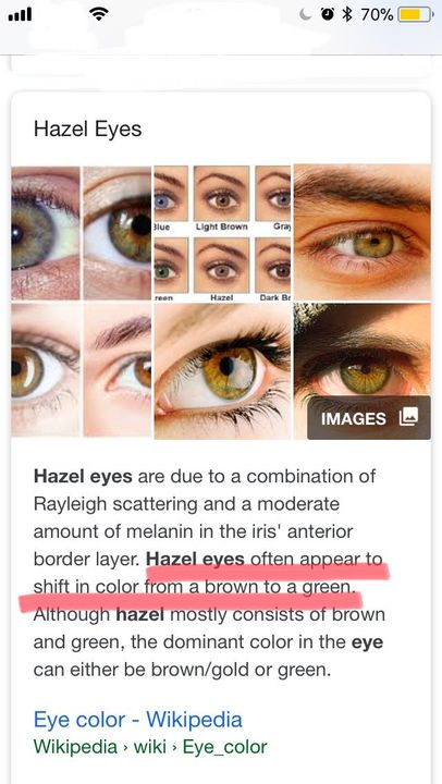 hazel eye color definition