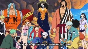 He then continue to explain that the team handing Caesar over to Doflamingo will pass through Dressrosa and head north, over a long bridge, to Green Bit apparently, they cannot get there by ship