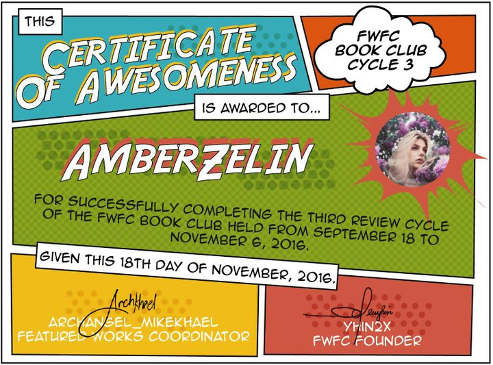FWFC Cycle 3 Review Book - Certificates of Awesomeness - Wattpad