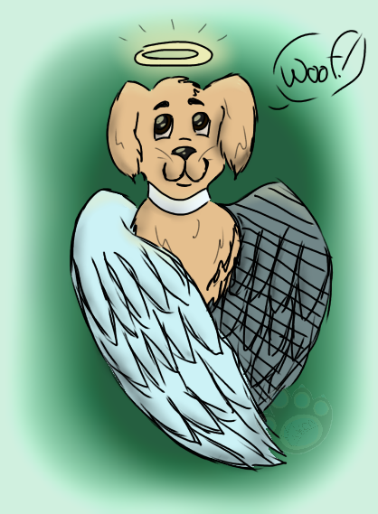 I forgot to post this yesterday, but I digitalized a sketch of Cloudy! I decided to make him an angel
