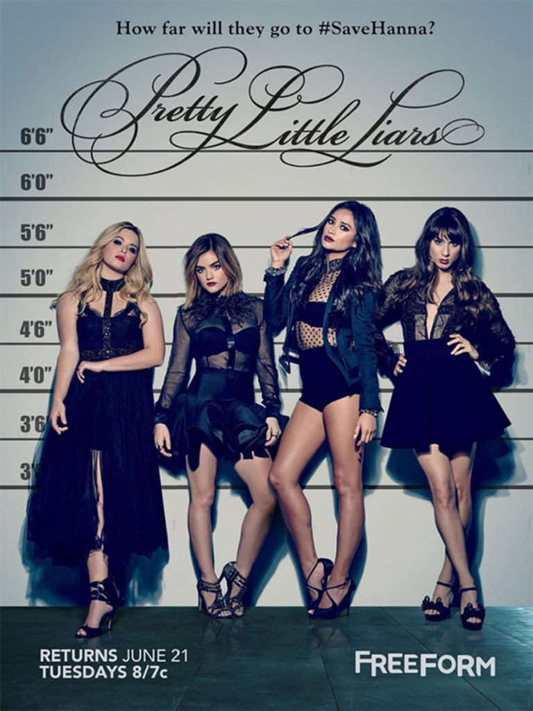 Catch the latest season of Pretty Little Liars 8/7c on Freeform