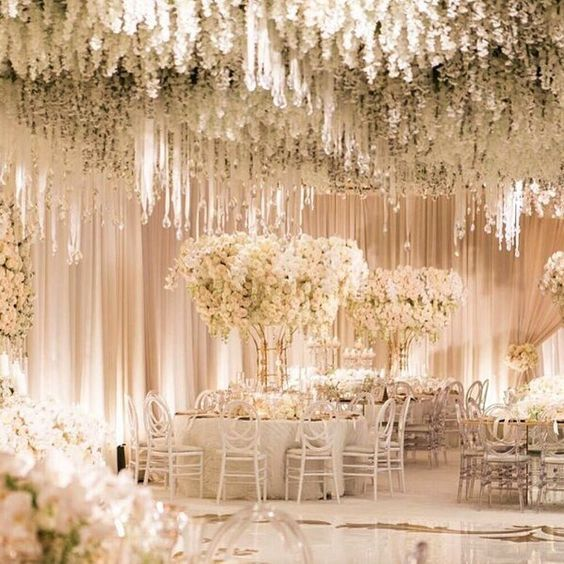 All of the guests were seated amongst the exquisite decor