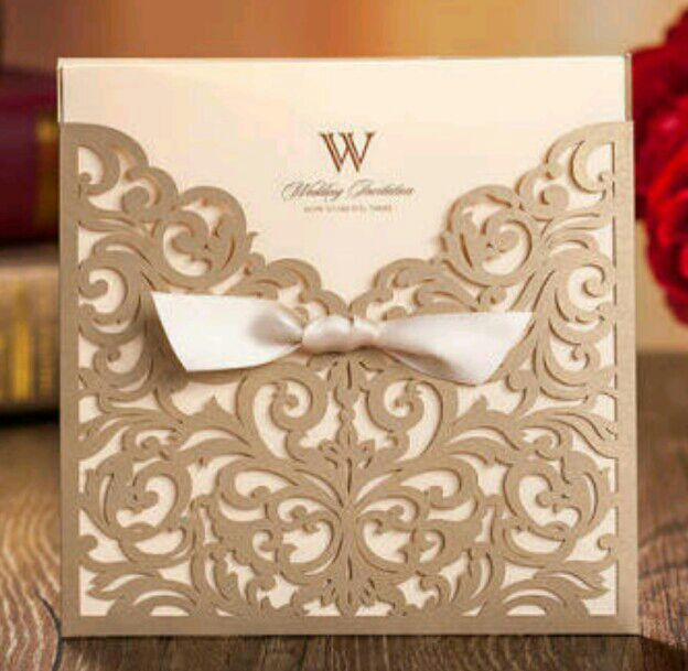 (This is the wedding card)