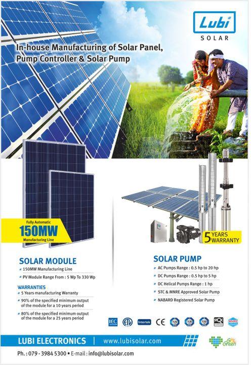 Best Solar Panel Company In India | Lubi Solar - Solar