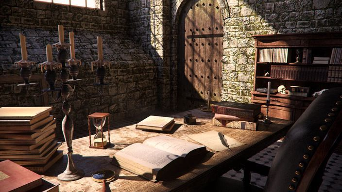 Leader of the Rebels', Frank's work area inside his cottage: