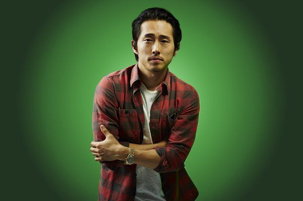 Trisha is married to a sweet guy named Dan, who also happens to be Ryker's best friend, played by Steven Yeun: