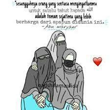 Koleksi Kartun Muslimah 12 Kata Mutiara Sahabat Wattpad