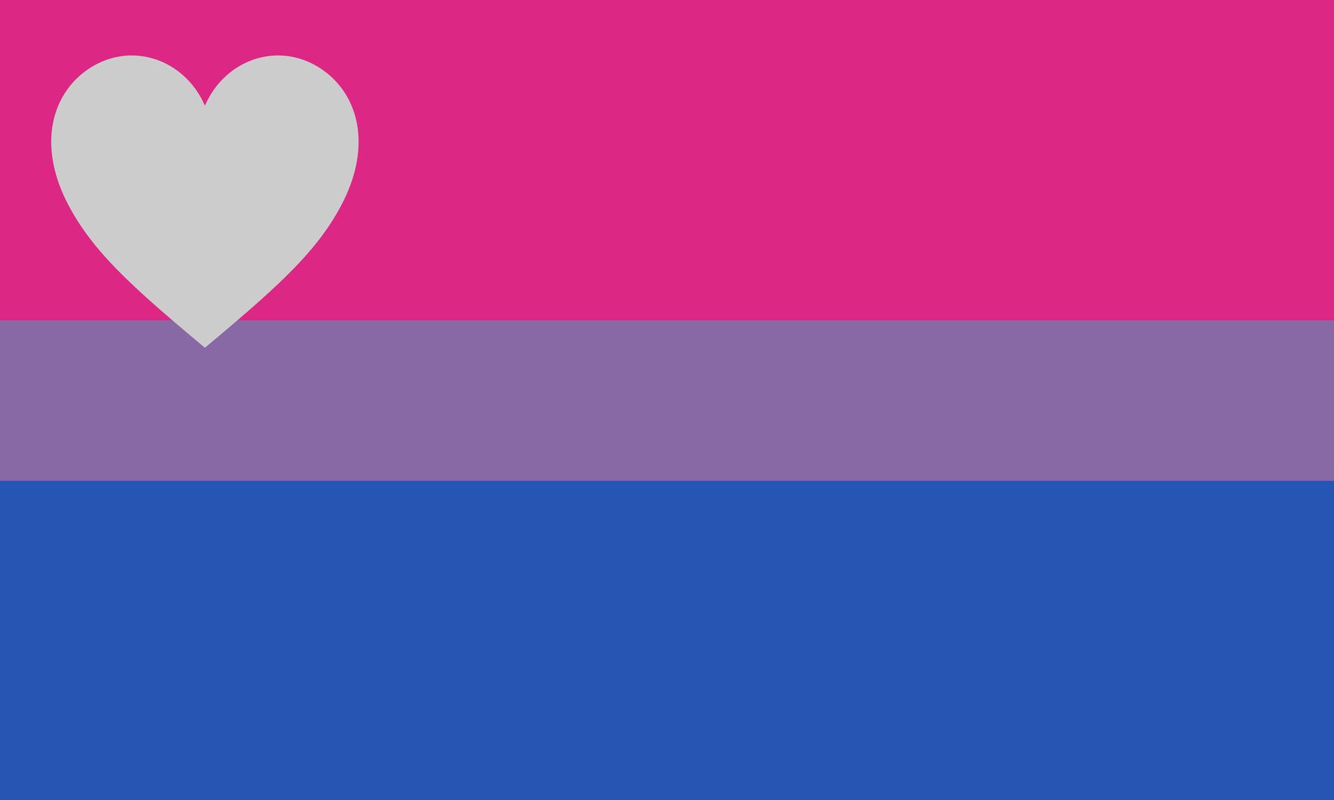 Biromantic demisexual flag