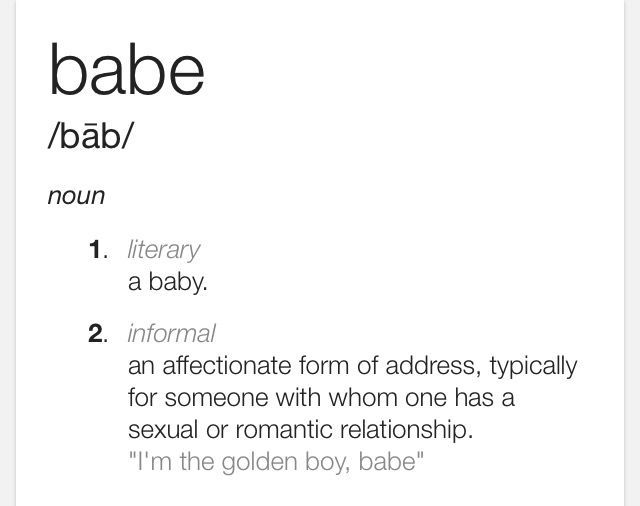 what does babe mean in a relationship