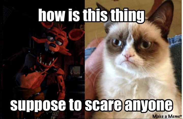 *Foxy is sitting with Marinette and Springtrap when the meme comes up*