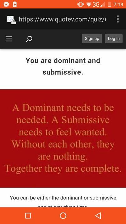 submissive dominant quiz