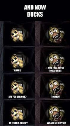 """""""Maybe we should keep Whica and Ticha (Toy Chica) away from each other"""" Springtrap said"""