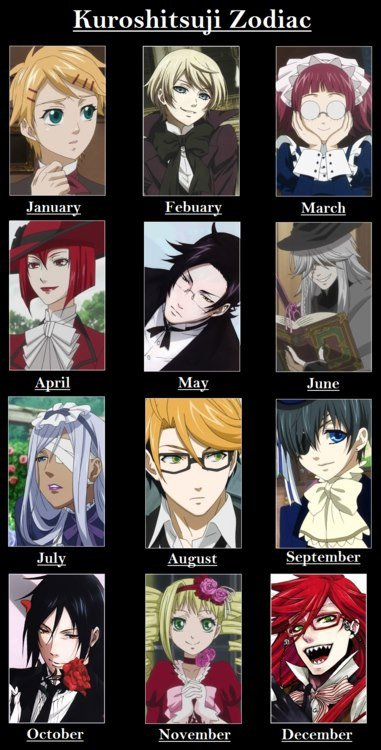 Anime Characters Born In August : Zodiac signs black butler lovers wattpad