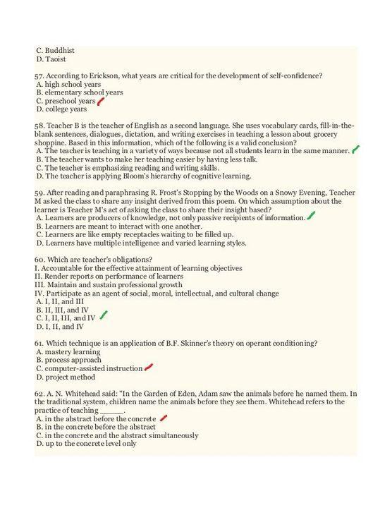LET Reviewer - Prof Educ 7 Part 1 - Wattpad