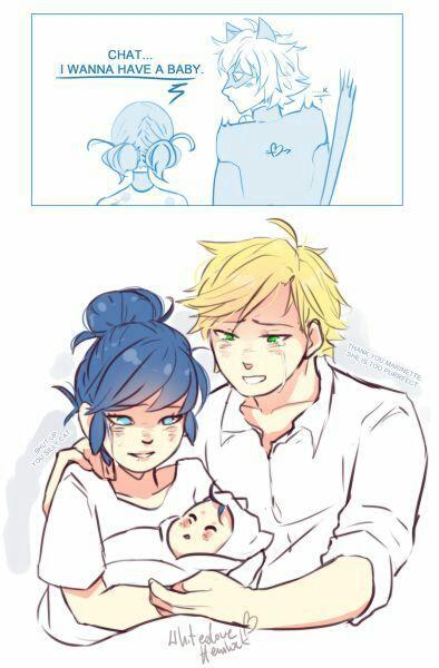 Комиксы эдриан и беременная маринетт 40