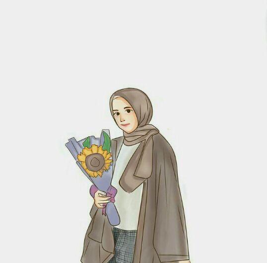 98+ Gambar Kartun Muslimah Untuk Foto Sampul Gratis Terbaru