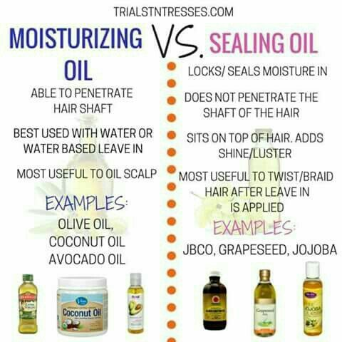 😐 I use to put conditioner in my hair and then seal in the moisture with olive oil