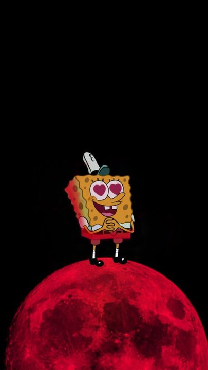 Wallpapers Spongebob On A Moon Wattpad