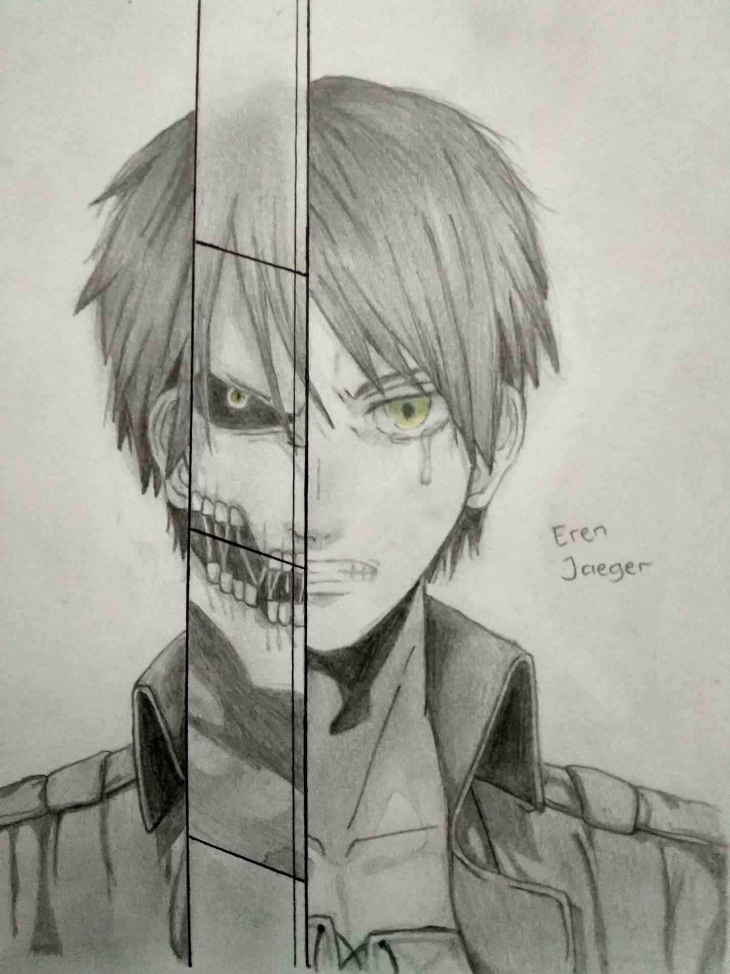 Mein Skizzenbuch Art Book Eren Jaeger III Attack On