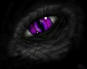 ملاحظه : هذا شكل عين اوز و روزكتبت قطط بدلاً من التنانين لأن روز لم تشاهد اي تنين من قبل