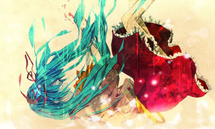 """""""You've got to stop being so uptigh-""""Miku falls through a hole in the bridge"""