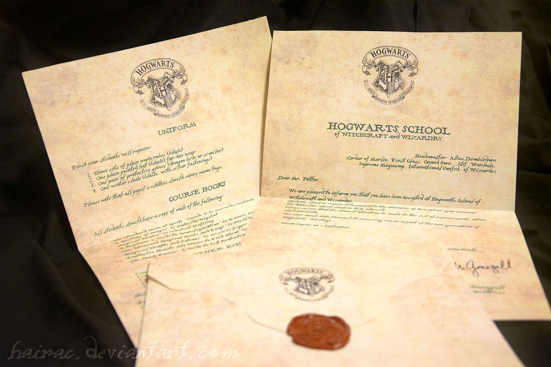 creazioni harrypottiane - lettera per hogwarts