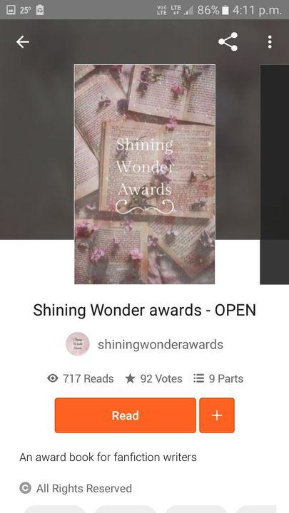Shining Wonder Award