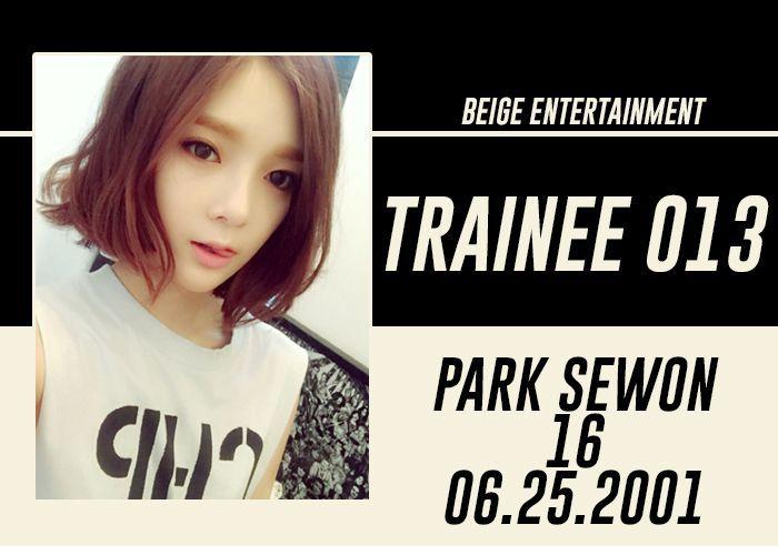 FULL NAME: Park SewonSTAGE NAME: SewonNICKNAME: JennyBIRTHDATE: June 25, 2001KOREAN AGE: 17HEIGHT: 159 cmWEIGHT: 42 kgHOMETOWN: Jeju, South KoreaNATIONALITY: KoreanETHNICITY: Asian