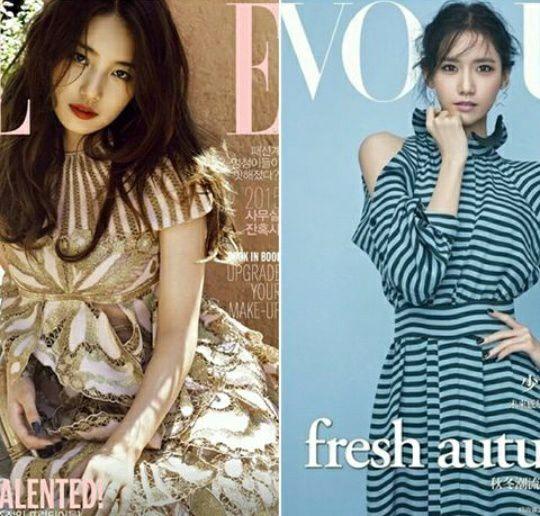 Image result for Suzy YoonA Menjadi model di cover majalah ternama rasanya udah hal yang biasa buat keduanya.