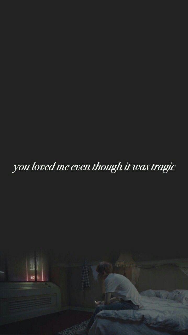 Depression Bts Sad Quotes Wallpaper