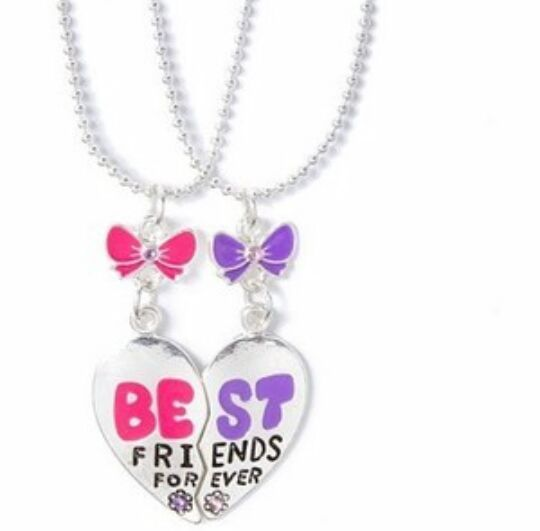 """"""" I'm the pepper and she's the salt, nobody can separate us, we have best friend necklaces to prove it """""""