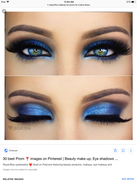 Makeup For Royal Blue Prom Dress Makeupview Co