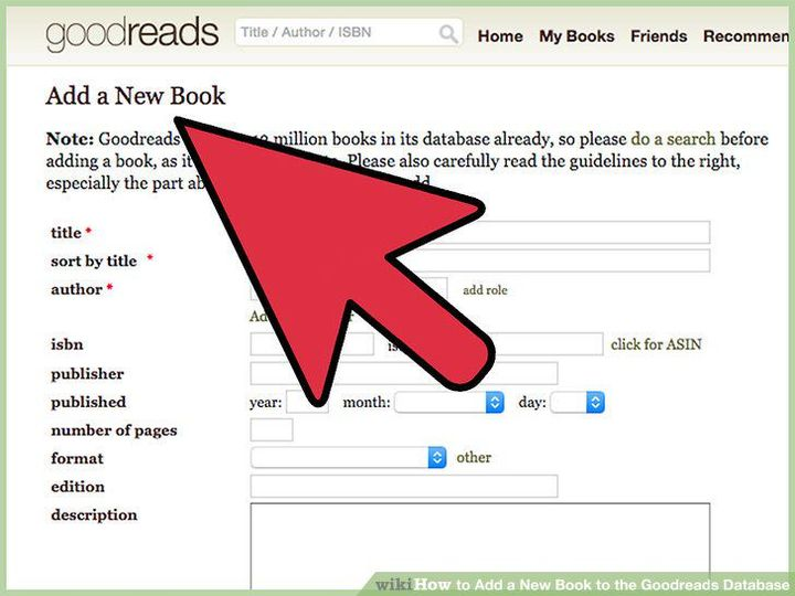 Manually add your book
