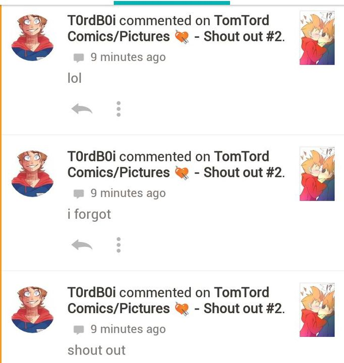 TomTord Comics/Pictures 💘 - Shout out #3 *Dying inside* - Wattpad