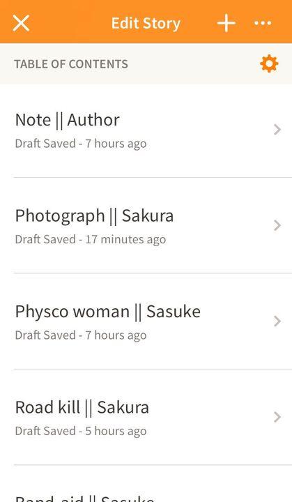 Rough drafts/parts: