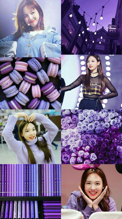 Kpop Aesthetic Collage Requests Closed Twice Nayeon Violet