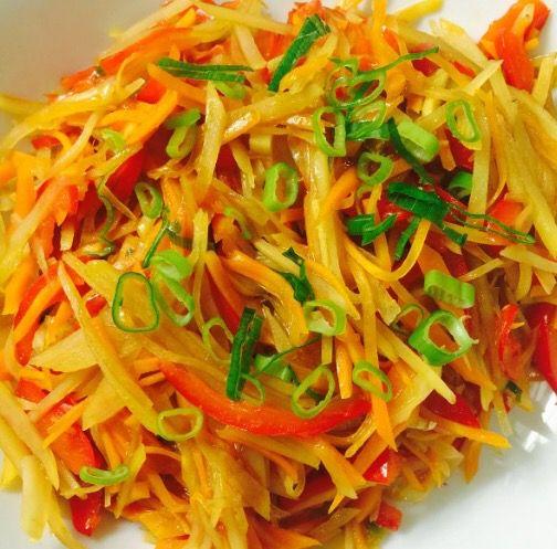 ----Khoai tây cà rốt sợi