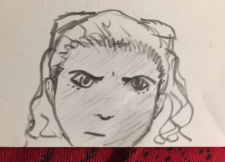 Enjoy my doodle of Penny— it's on the back of a bunch of notes for this fic :)