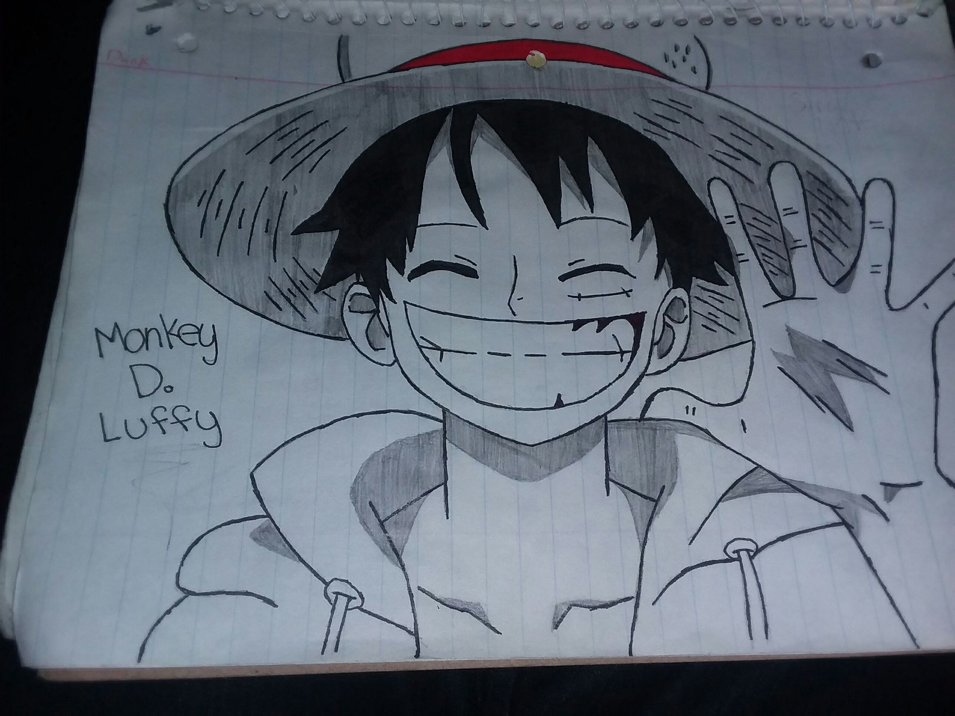 My Drawings Monkey D Luffy Wattpad