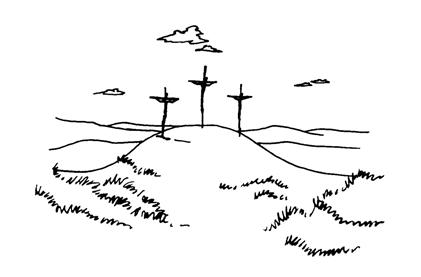 """Foi nos anos oitentaque os chegantes de entãoresolveram encenar,durante a Semana Santa,a tão famosa """"Paixão"""""""