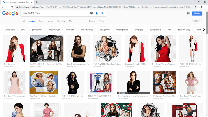 this is pretty self explanatory, but basically just google 'celebs name + pngs' and a dozen options will come up, single images, or packs you can download off of deviantart which is a save and grace when it comes to finding pngs, textures, honestl...