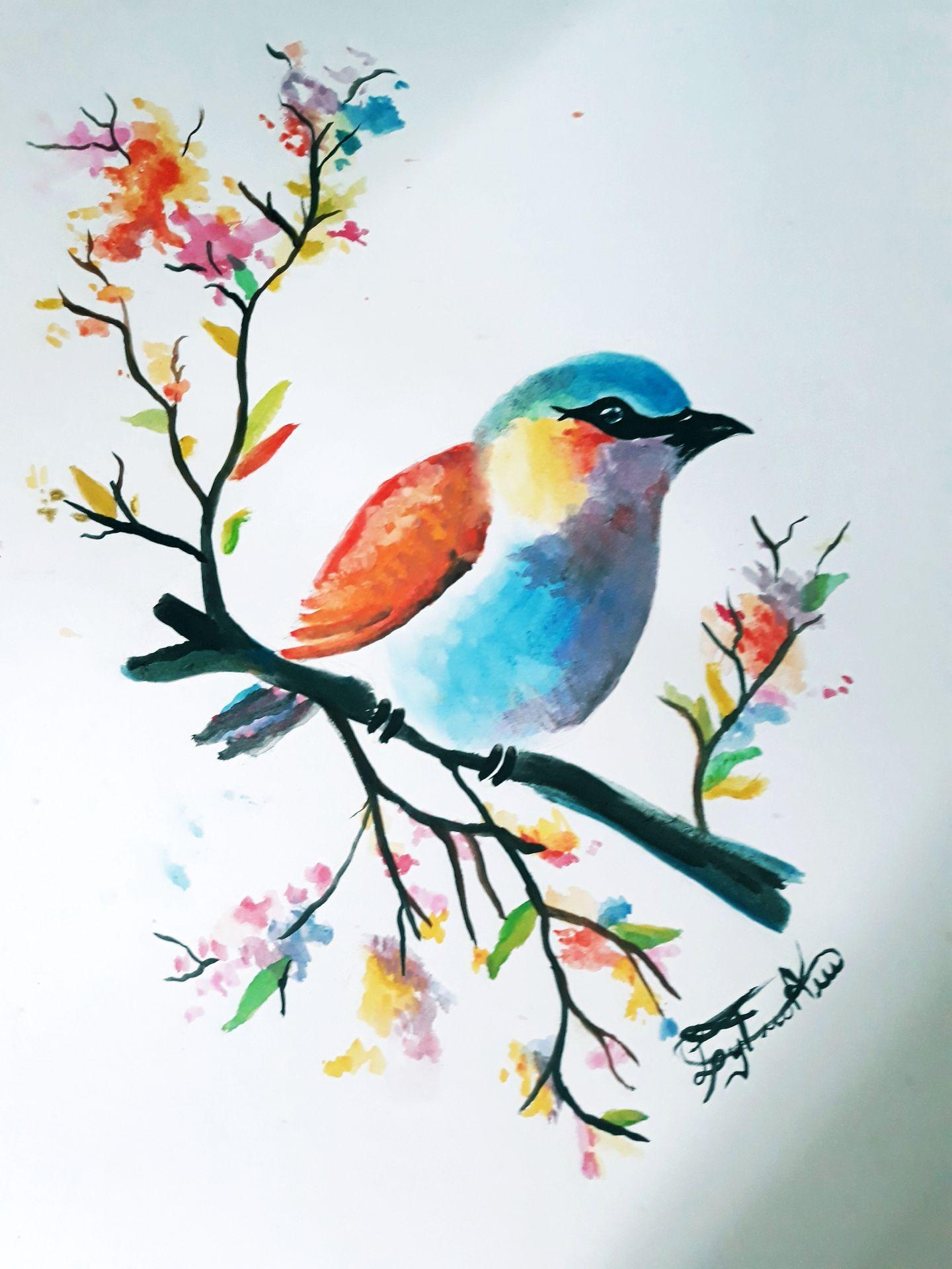 Mis dibujos y pintados. - Pintando con acuarela por ...