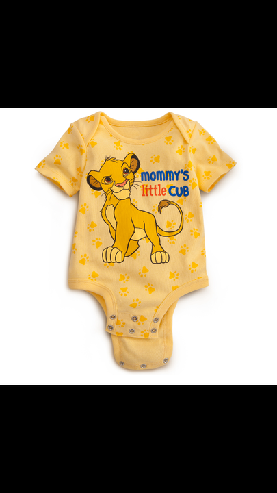 So I decided to start off with a simple question I asked her what onesie she wanted she picked one with a picture of simba on the front