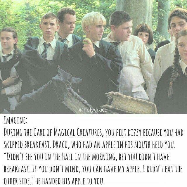 Draco Malfoy x reader imagine - eat - Wattpad