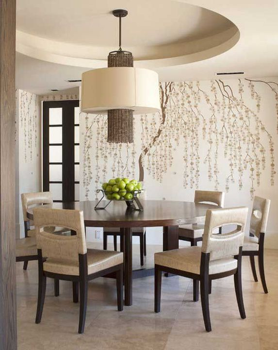 Vanya:Compared to the other dark woods and rustic themes going on in yours and Vanya home, she let you go for something more plain in the dining room, but it was still beautiful