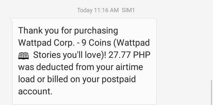 Purchasing Wattpad Coins - Using Regular Load - Wattpad