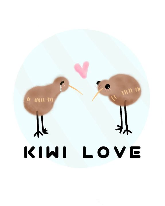 One of the kiwis is crying because he's so happy someone loves him