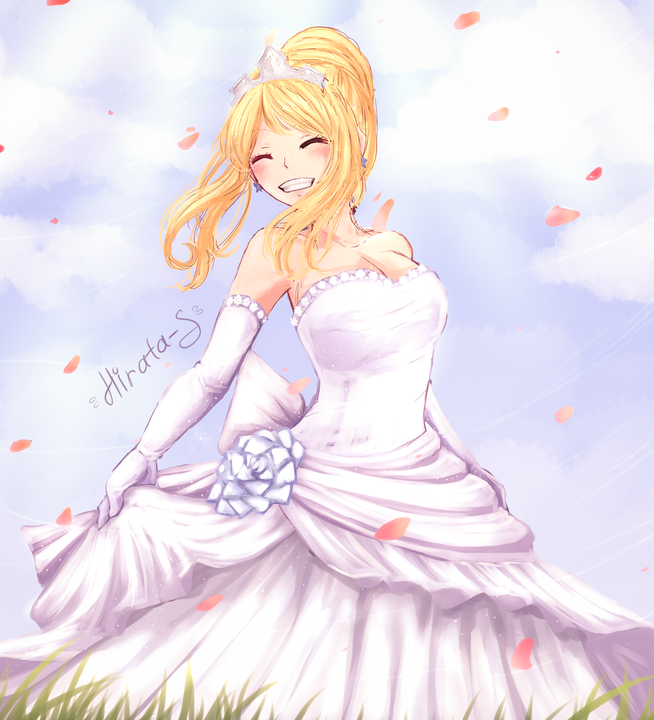 She requipped into a wedding dress, and stood off to the side, watching sadly as all her friends paired up