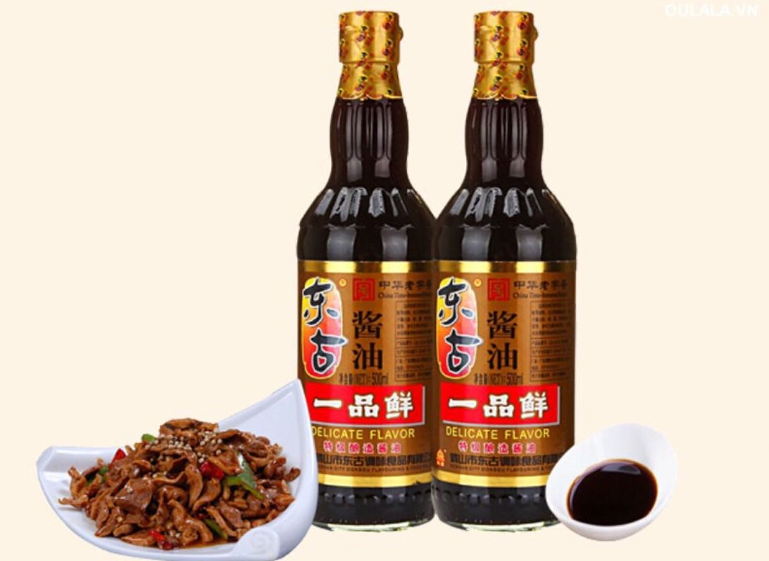 Chai xì dầu ngon bá cháy bọ chét tên Việt là nhất phẩm tiên ăn xong loại này k thể ăn được nước tương của Chinsu hay Maggie nữa
